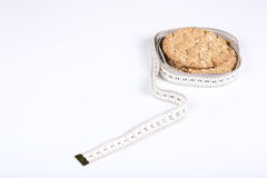 Bread and meter Stock Photo