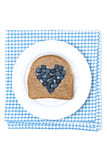 Bread with the middle filled with blueberries Royalty Free Stock Photo