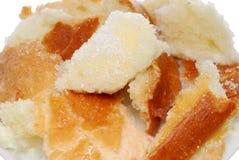 Bread in milk Stock Photo