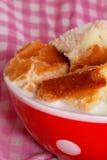 Bread in milk Stock Images