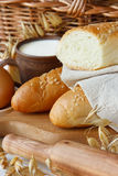 Bread and milk. Royalty Free Stock Photos