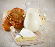 Bread with  milk Royalty Free Stock Image