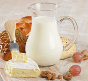 Bread with  milk Stock Photography