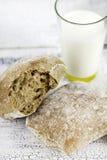 Bread and milk Stock Photos