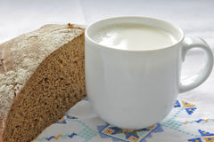 Bread and Milk Stock Image