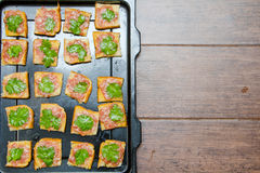 Bread with minced pork Stock Photography