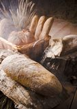 Bread mix in smoke Stock Image