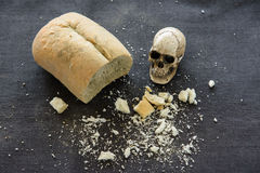 Bread. Moldy bread was spoiled rotten Royalty Free Stock Photo