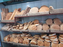 Bread. Moroccan bread diferent types Stock Image