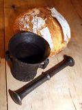 Bread and mortar Royalty Free Stock Images