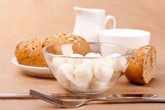 Bread and mozzarella Royalty Free Stock Photography