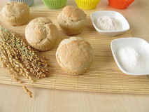 Bread muffins with spelt flour, millet flour, rice flour Royalty Free Stock Photography