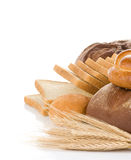 Bread n white Royalty Free Stock Image