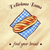 Bread On A Napkin 2 Royalty Free Stock Photos