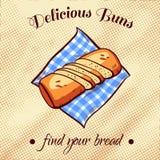 Bread On A Napkin 17 Royalty Free Stock Photo
