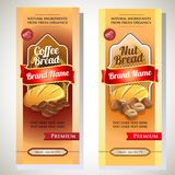 Bread nut coffee packaging. Additional file in eps 10 Royalty Free Stock Image