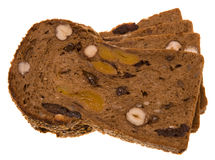 Bread with nuts and fruit Royalty Free Stock Photos