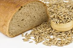 Bread and oat Royalty Free Stock Images