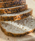 Bread with oat bran and flax seeds Royalty Free Stock Photography