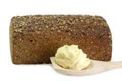 Bread with Oleo Royalty Free Stock Images