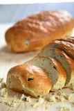 Bread with olive Stock Photos