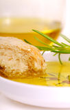 Bread and olive oil Royalty Free Stock Image