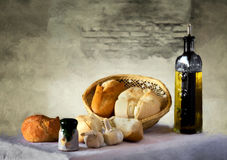 Bread with olive oil Royalty Free Stock Images