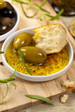 Bread with Olive Oil Stock Photography