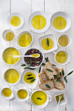 Bread and olive oil Stock Image