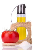 Bread with olive oil and tomato Royalty Free Stock Photography
