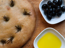 Bread and Olives Royalty Free Stock Photo