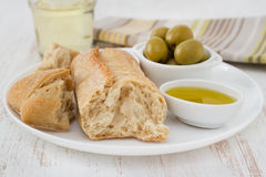 Bread with olives Stock Photos