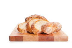 Bread On A Cutting Board Royalty Free Stock Images