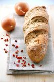 Bread with onion, paprika, cumin and dill Royalty Free Stock Images