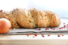 Bread with onion, paprika, cumin and dill Stock Photography