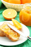 Bread with orange jam Royalty Free Stock Photography