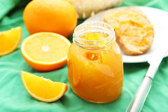 Bread with orange jam Royalty Free Stock Photo