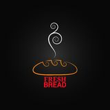 Bread ornate design background Royalty Free Stock Photos
