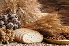 Bread and other. Bread with poppy, corn and kidney bean Stock Photography