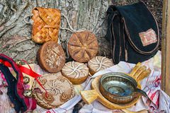 Bread and other objects of rural life Stock Photography