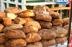 Bread on outdoor market Stock Image