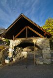 Bread oven. Old outdoor bread oven in a village in french alps Stock Image