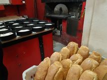 Bread oven making bread food Royalty Free Stock Images