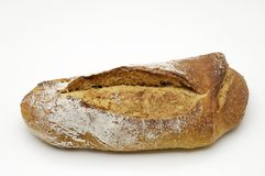 Bread over white background Royalty Free Stock Photo