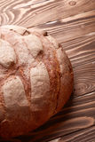Bread over wooden background Stock Image