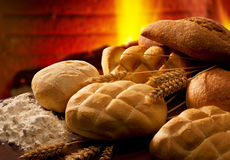 Bread in the owen Stock Image