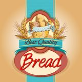 Bread pack label royalty free illustration
