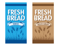 Bread Packaging. Variant Packaging for Bread company royalty free illustration