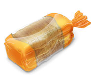 Bread in packing Royalty Free Stock Images