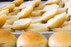 Bread pandan custard Stock Photos